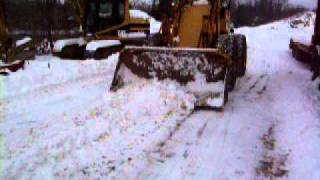 Plowing snow at the yard