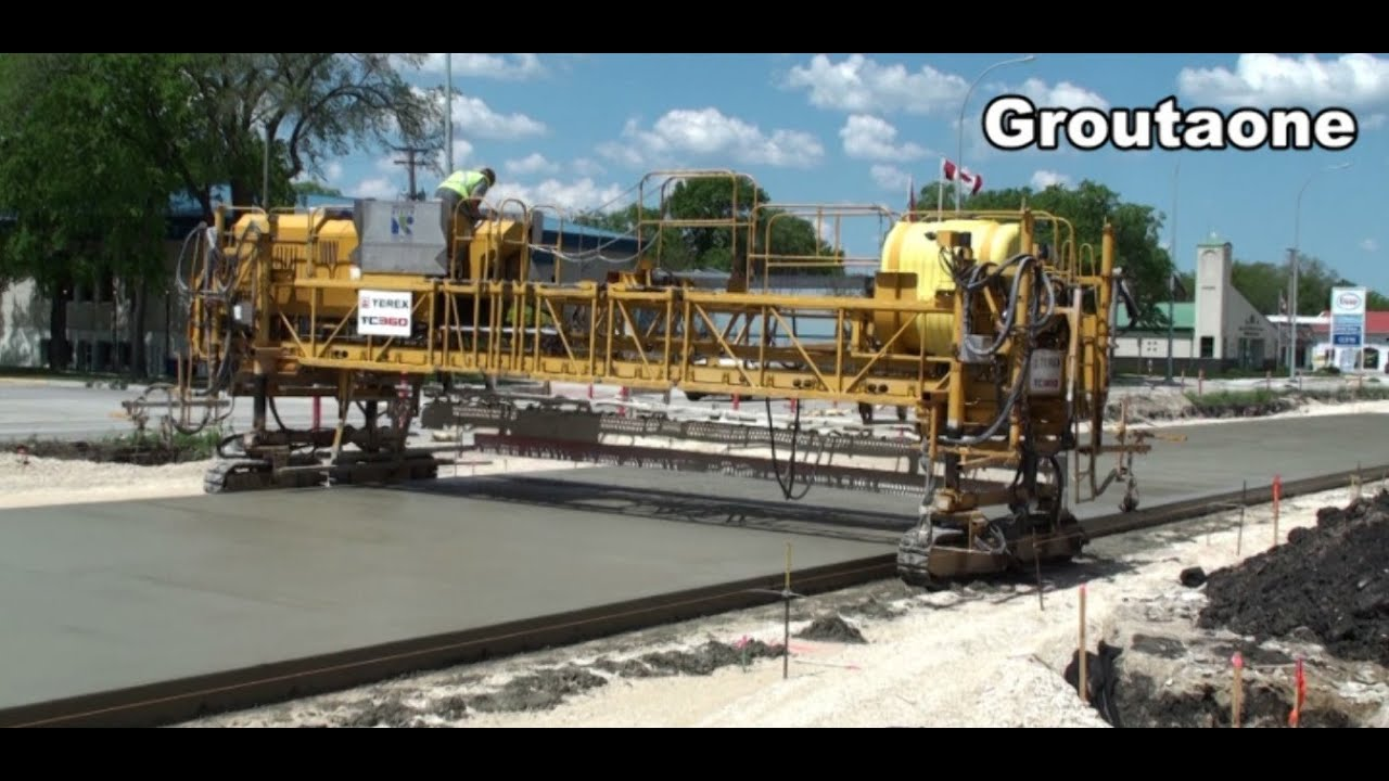 Highway Concrete Machines At Work Youtube