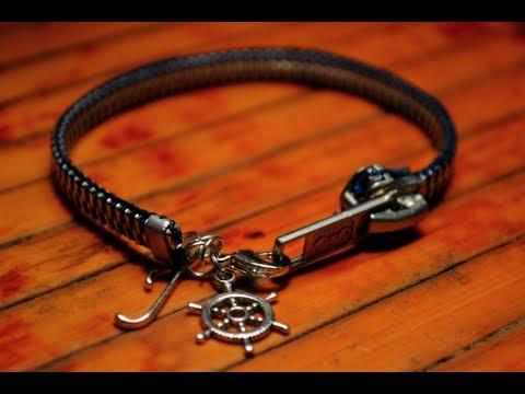 Diy zipper charm bracelet bonus zipper wrap bracelet youtube