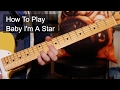 'Baby I'm a Star' Prince Guitar Lesson MP3