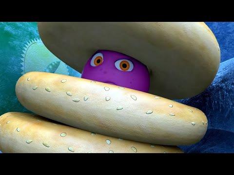 Прикольный мультик «Овощная вечеринка» - Снежный монстр (31 серия)