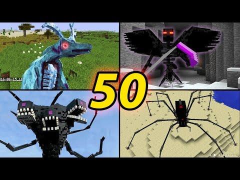 TOP 50 Minecraft  Monster Mobs - Best Minecraft Mods [ 2016 MOD ]