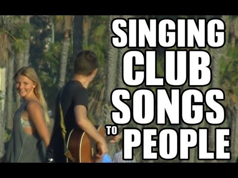 Public Prank - Singing Club Songs To People