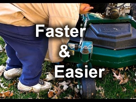 Fast ★ leaf clean-up ★ using your lawn mower