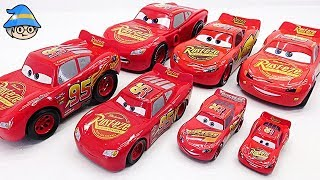 Transforming Lightning McQueen into a car. Disney Cars Collection. Find in a toy box.