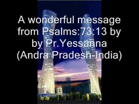 Pr.yessanna's Message On Psalms 73, Part-8. Darlington Christian Fellowship-39 video
