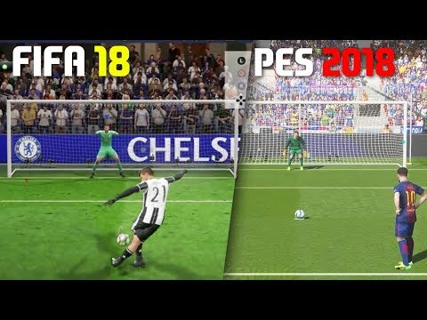 FIFA 18 vs PES 2018 Penalty Kicks Comparison