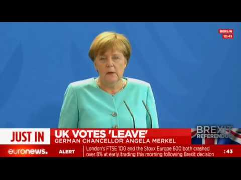 Angela Merkel press conference after Brexit (recorded live)