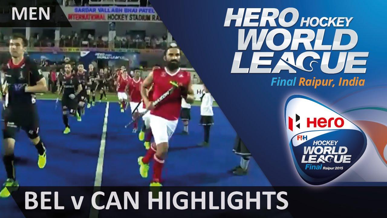 Belgium v Canada Match Highlights #HWL2015 #Raipur