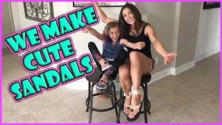 SANDAL AND FLIP FLOP UPCYCLE DIY | We Are The Davises