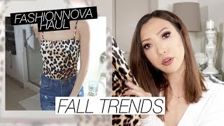 Summer to Fall Trends Fashion Nova Haul 2018