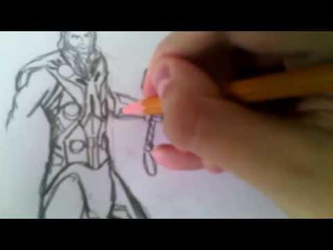 Видео как нарисовать Тора поэтапно