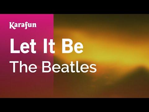Karaoke Let It Be - The Beatles *