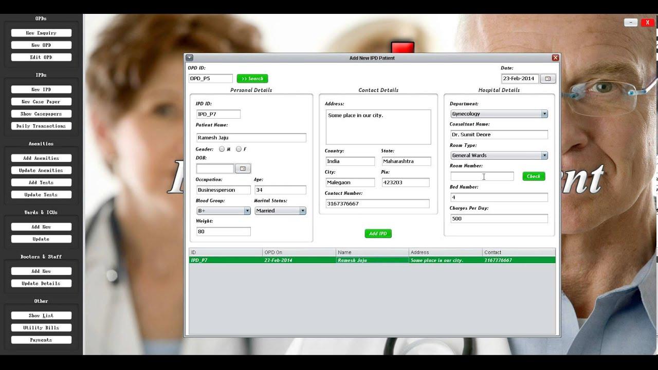 Hospital Management System Software Demo Hospital Management System
