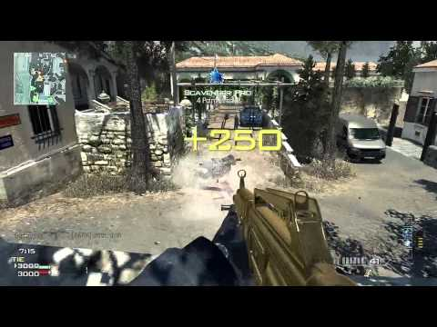 Mw3 DLC Map Pack #1 TDM on Piazza w/ Gold USAS 12 Shotgun Gameplay/Commentary