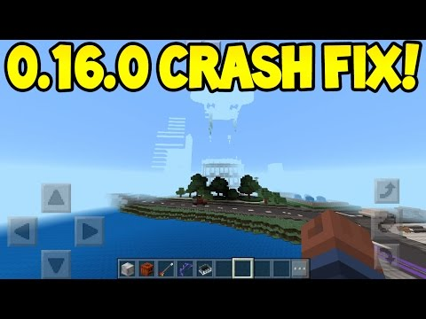 Minecraft Pocket Edition - 0.16.0 Update! - CRASH FIX! Tutorial (IOS/Android)