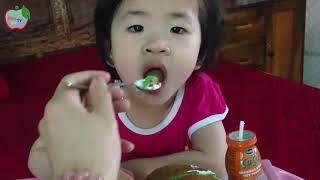 Bống ăn bánh kem♥uống sữa su su♥bé Bống♥ Bống Kid TV