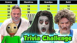 Baldi Granny Slendrina Grandpa Horror Game Trivia Challenge! Can You Get Them Right? | DavidsTV