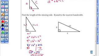 Unit 11T Day 1 Pythagorean Theorem