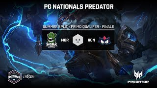 PG NATIONALS PREDATOR - PRIMO QUALIFIER - FINALE - MOBA ROG vs RACOON - GAME 4