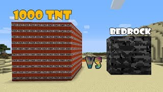 MINECRAFT - DESTRUYENDO UN BLOQUE DE BEDROCK CON 1000 TNT - MINECRAFT VIDEOS