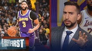 Lakers & LeBron need fully functional Anthony Davis to win a title — Nick | NBA | FIRST THINGS FIRST