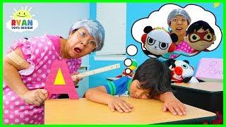 Ryan had a Bad Dream at School....
