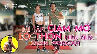 Bài tập GIẢM MỠ EO THON hiệu quả | 28min Workout | HLV Cá Nhân Thể Hình Ryan Long Fitness