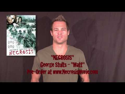 Necrosis movie star George Stults shouts to Horror Hound Magazine promoting the DVD release