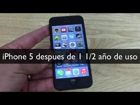 EL iPhone 5 después de 1 año y medio de uso
