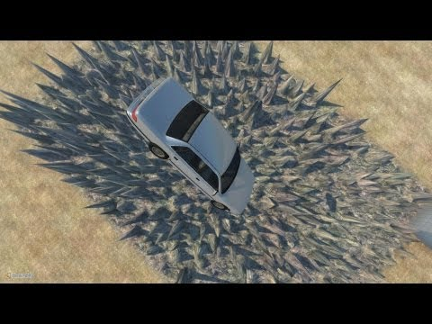 BeamNG Drive Alpha Crash Testing Stairway to hell & Pit of Death #7 HD