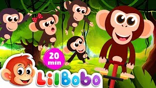 Popular Nursery Rhymes Collection  : Five Little Monkeys | Little BoBo - FlickBox Kids Songs