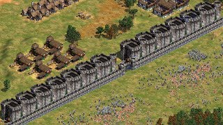 THE GREAT WALL OF CASTLES - Age of Empires 2 (4K GAMEPLAY)