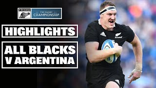 HIGHLIGHTS: All Blacks v Argentina - 2019