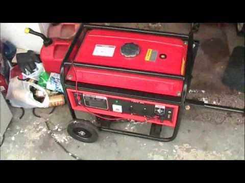 Chinese 3000 watt generator cold start and load test (1500 watt load) cold Michigan winter