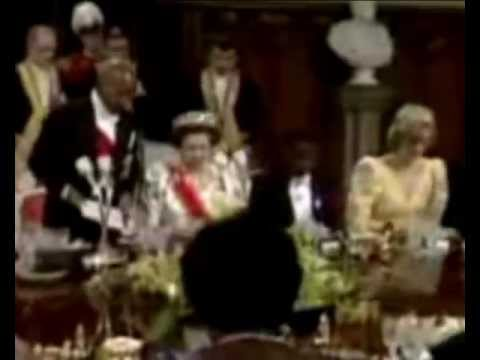Princess Diana Adjusts Her Tiara 16 April 1985 video