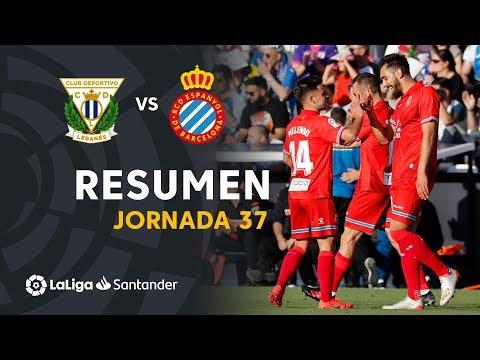Resumen de CD Leganés vs RCD Espanyol (0-2)