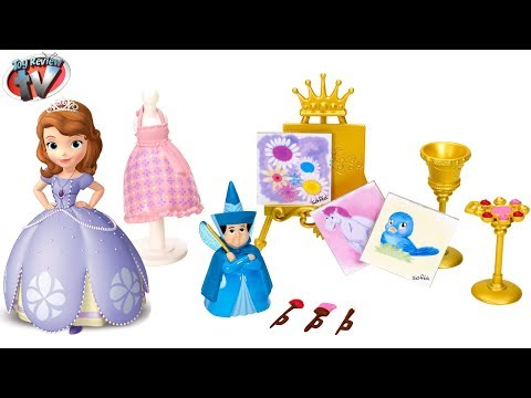 Disney Sofia The First: Royal Art Class Play Set Toy Review. Mattel