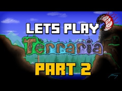 Lets Play Terraria 1.2 Update | Part 2 | House Construction (Terraria 1.2 Gameplay / Playthrough)