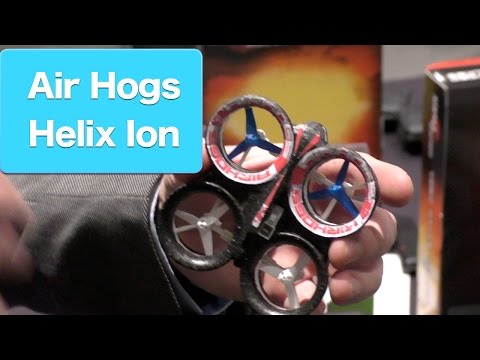Air Hogs Helix Ion RC Stunt Mini Quadcopter. First Look Toy Fair 2015