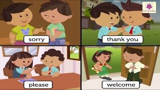Learn Good Manners For Kids   Sorry, Please, Thank you - The Magic Words   Periwinkle
