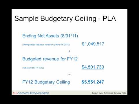 ALA Financial Learning Series: Budget Cycle and Process