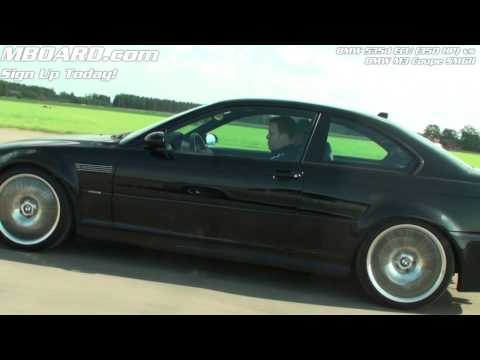 HD: BMW 535d ECU 350 HP vs BMW M3 Coupe E46 SMGII