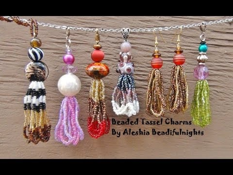Beaded Tassel Charm Tutorial
