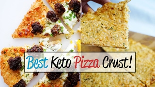 No Carb Pizza Crust! Take Keto Pizza to the Next Level | Low Carb Pizza Crust!