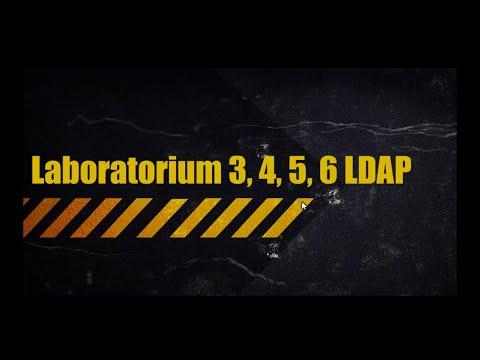 ZUT WI & ZPSB: Technologie Sieciowe - Laboratorium 3, 4, 5, 6 LDAP
