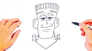 How to draw Frankenstein | Funny Drawings for Kids
