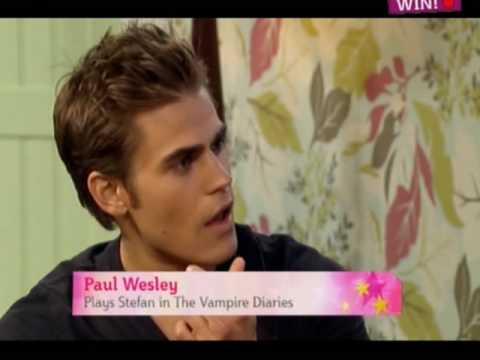 Vampire Diaries - Nina, Paul and Ian on This Morning Video