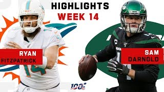 Ryan Fitzpatrick vs. Sam Darnold Highlights | NFL 2019