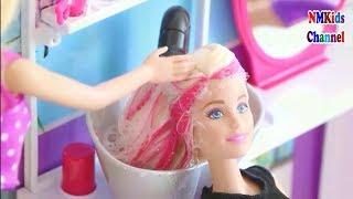 Búp bê barbie đi làm tóc - Đồ chơi trẻ em bup be baby - Hair Salon Kids toy
